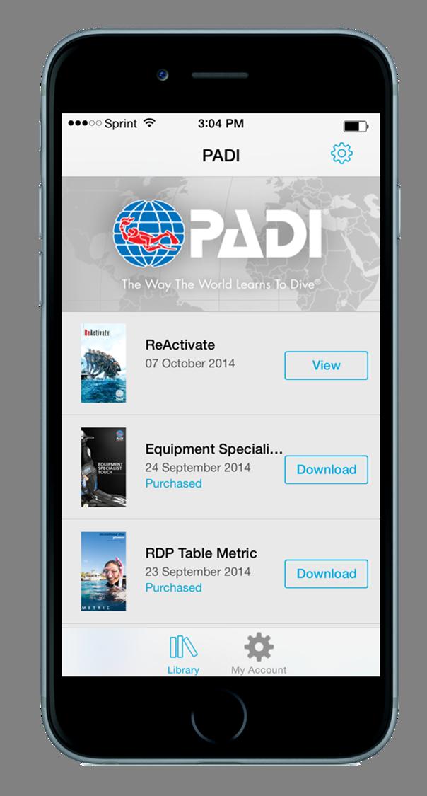 PADI Library App